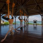 Swept off our feet by AntiGravity Yoga at Bali's Four Seasons Jimbaran Bay