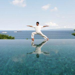 Hasya - 'Laughing Yoga' - beams positivity to Amankila, Bali